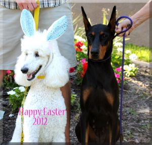 Annisette and her buddy    on Easter Sunday 4/8/2012