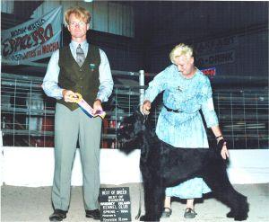 Ch. Logres Lord Vader with handler Louise Van Alstyne