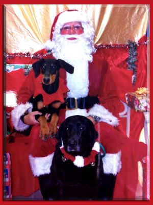 Izzy with Santa Phil and Casie