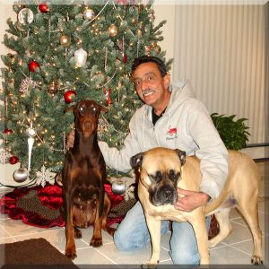 Logres' Celine with Jorge and Lucky